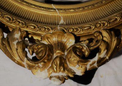 Ornament während der Arbeiten